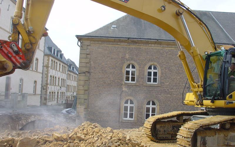 During excavation