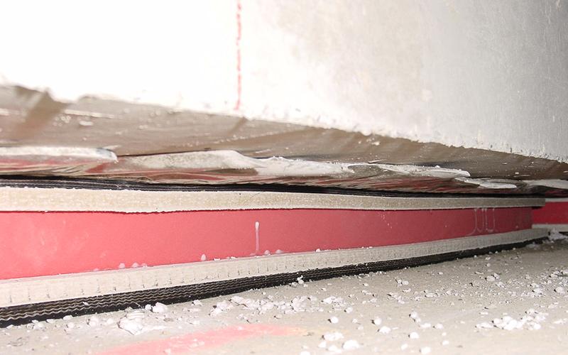 Ontwerp van sporen / vlottende vloerplaten