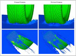 Hydroplaning solved with MD Nastran
