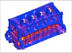 Engine block thermal analysis