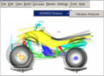 Vibration analysis example using Adams/Vibration