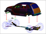 Vehicle system assembly for interior acoustics