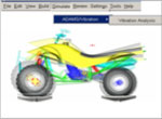 Vibration analysis of an ATV on a 4-post shaker